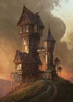 ArtStation - Hilltop House, Jordan Grimmer