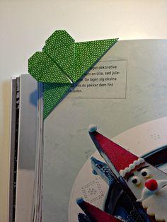 En DIY - Origami Hjerte Bogmærke