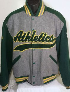 Vintage Oakland Athletics Mens Size Large Wool Blend Starter A's Jacket  #Athletics #Starter #OaklandAthletics