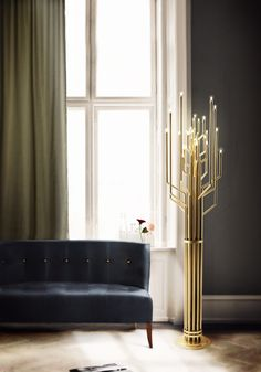 JANIS #gold floor lamp by @Delightfull Unique Lamps