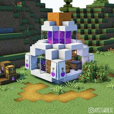 Minecraft Shops, Minecraft Cottage, Cute Minecraft Houses, Minecraft House Tutorials, Minecraft Modern, Minecraft House Designs, Amazing Minecraft, Minecraft Tutorial, Minecraft Creations
