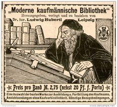 Original-Werbung/Inserat/ Anzeige 1902 - HUBERTI/MODERNE KAUFMÄNNISCHE BIBLIOTHEK - ca. 90 x 80 mm
