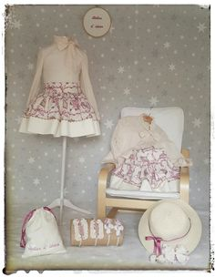 Conjuntos de blusa y falda, con complementos para el cabello, para que nuestras niñas vayan siempre preciosas
