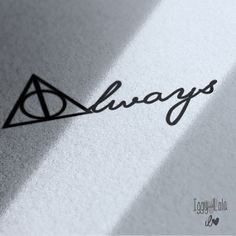 Harry Potter inspired A:WAYS deathly hallows  vinyl decal - small medium or large for wall, laptop, car, home decor, glass, windows