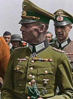 Generalfeldmarschall Gerd von Rundsted 1940s B/W Photo Colourised by Pearse