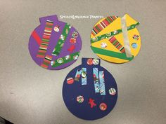 Christmas ornament craft in speech therapy groups