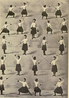 Salute Chief Movements Women's Fencing Vintage 1920s Photogravure Athletic Chart To Frame. $30.89, via Etsy.