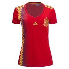 adidas Spain Women s Home Jersey 2018 3e34e17411c46