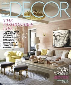 Cameron Diaz's Manhattan Apartment... interior designer: Kelly Wearstler... The full story appears in the October issue of ELLE Decor magazine