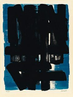Pierre Soulages - Lithographie n°5