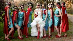 Super hero wedding theme... Cute