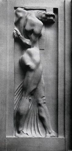 Franz Metzner - relief on facade of Weinhaus Rheingold, Berlin, Germany, 1907