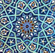 Soft tactile velvet printed with exotic designs - cushion cover (Anna Chandler Designs). Islamic Motifs, Islamic Patterns, Tile Patterns, Turkish Pattern, Turkish Tiles, Blue Tiles, Color Tile, Colour, Velvet Cushions
