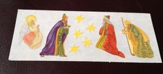 CREATIVE MEMORIES STICKERS: CHRISTMAS THREE 3 WISE MEN STARS ANGEL #MrsGrossman