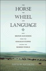 The Horse, the Wheel, and Language: How Bronze-Age Riders from the Eurasian Steppes Shaped the Modern World, 2007, David W. Anthony, winner of  the Society for American Archaeology's 2010 Book Award.  Argues that we speak English not just because our parents taught it to us but because wild horses used to roam the steppes of central Eurasia, because steppe-dwellers invented the spoked wheel and because poetry once had real power. (Great read, click through. rw)