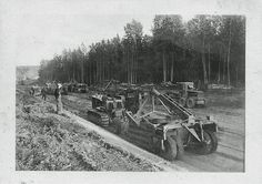 Matt Kotschevar's Crew and Equipment Working on the ALCAN Highway (aka Alaska Highway), Road Opened in November 1942 (World War II Era)   by France1978