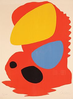This poster reproduces the image created by Calder for LACMA's opening in Alexander Calder, Whitney Museum, Famous Artists, American Art, Fine Art, Abstract, Artwork, Books, Poster