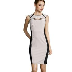 BCBGMAXAZRIA Kelsee dress BCBGMAXAZRIA Kelsee structured keyhole detail dress BCBGMaxAzria Dresses