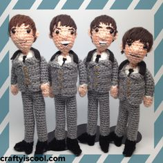 The Beatles Amigurumi Crochet Patterns for Purchase