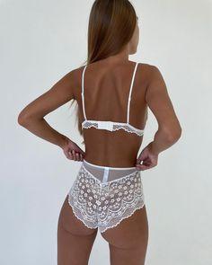 """Нижнее белье on Instagram: """"Комплект в наличии , бюстгальтер с тонкой чашкой без косточек и трусики с высокой посадкой 🌸 Цена : 1590₽ Размеры : 75,80,85 B Арт. :…"""" Designer Lingerie, Crochet Bikini, Bikinis, Swimwear, Fashion, Bathing Suits, Moda, Swimsuits, Fashion Styles"""