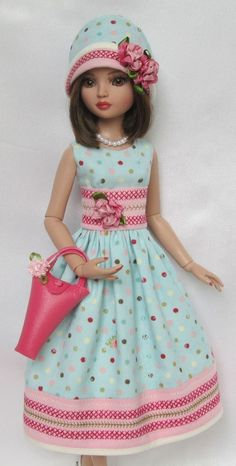 """ELLOWYNE'S GARDEN PARTY OUTFIT! FOR 16"""" ELLOWYNE, ETC. MADE BY SSDESIGNS"""