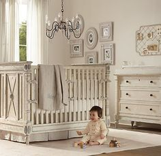 restoration hardware, kids room design, nurseries, girl nurseri, white, babies nursery, babi room, baby cribs, babies rooms