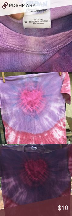💯genuine one of a kind tie dye T-shirt💯⭐️ 🛍Super Cool🛍  Heart ❤️Design tie dye T-shirt❤️ Tops Tees - Short Sleeve