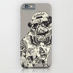 Pug Tattoo iPhone & iPod Case