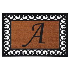 Home & More Monogram Insert Doormat - 19 x 25 in. - 180041925