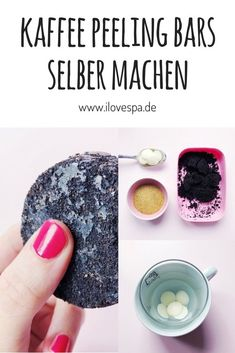 DIY Kaffee Peeling Bars - Kaffee Peeling Bar selber machen Make your own coffee peeling bar - Here you will find a simple recipe for DIY coffee peeling bars Diys Aloe Vera Creme, Diy Peeling, Make Your Own Coffee, Make Your Own Makeup, Diy Beauté, Diy Bar, Coffee Scrub, Coffee Coffee, Diy Skin Care