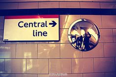 Red London Tube Central Line Sign