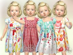 Birthday Party Toddler Dress  Found in TSR Category 'Sims 4 Toddler Female'