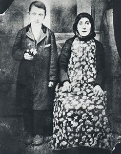 Arshile Gorky and his mother, Van, Turkish Armenia, 1912, courtesy of Dr. Bruce Berberian