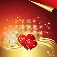 Vector: Vector Heart Background