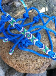 IN STOCK- Beaded Rope Halter, Horse Tack , Horse Halter, Custom Tack, hand beaded halter on Etsy, $69.00