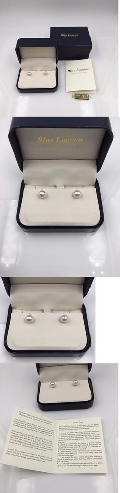 Pearl 10990: Mikimoto Blue Lagoon 14K Yellow Gold 7Mm Pearl Stud Earrings W Box And Papers -> BUY IT NOW ONLY: $150 on eBay!