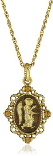 The Vatican Library Collection Topaz Enamel Angel Drop Pendant Necklace The Vatican Library Collection. $28.00. Made in USA Jewelry Necklaces, Gold Necklace, Pendant Necklace, Vatican Library, Topaz, Enamel, Drop, Usa, Collection