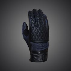 Motorbike gloves Scrambler Diesel created for naked bikes made of soft leather and denim.