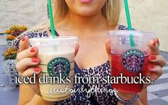 justgirlythings I have this birthday thing wen I have to go to starbucks and buy an ice drink and then grab Baskin Robinz..