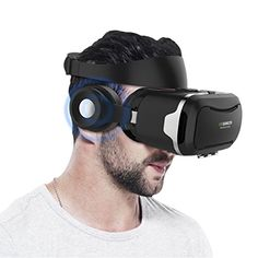 VR Headset Hizek 3D Virtual Reality VR Box Google Cardboard Upgraded Version Movies Games Helme with Earphone for iPhone 76sPlusiPhone6PlusSamsung Galaxy S7Galaxy S7 EdgeHUAWEIXiaomi * Details can be found by clicking on the image.Note:It is affiliate link to Amazon.