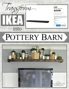 Remodelaholic | Turn an Ikea shelf into a Pottery Barn Ledge
