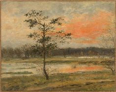 Max Slevogt (German, 1868-1932),Dachau Moor, 1894. Oil on cardboard, 39.5…