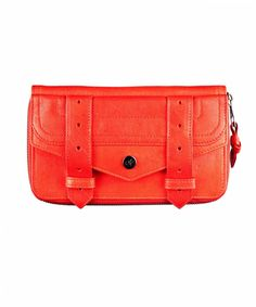 """Proenza Schouler PS1 Large Zip Wallet: """"I'm due for a new wallet and this electric red one fits all of my specification: it zips all the way open, looks fab as a clutch, and the bright color makes it easy to find in a big purse."""""""