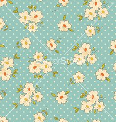 Vintage floral seamless background vector on VectorStock®