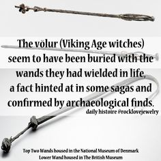 "Three genuine Viking Age ""witch"" wands..."