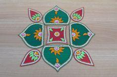 Kundan Rangoli by craftiv on Etsy