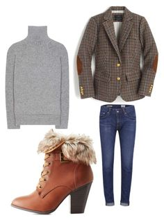 """""""Untitled #2251"""" by bellagioia ❤ liked on Polyvore featuring Haider Ackermann, AG Adriano Goldschmied, J.Crew and Charlotte Russe"""