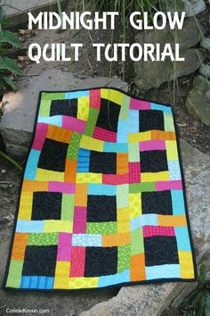 Midnight Glow Quilt Tutorial fast and easy to make