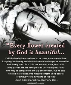 October 1 - Feast day of St. Thérèse of Lisieux. Pray for us, #sttheresethelittleflower