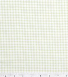 Nursery Baby Basic- Gingham Green & nursery fabric at Joann.com - for large wedding order